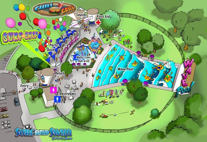 Surf and Swim Park Map