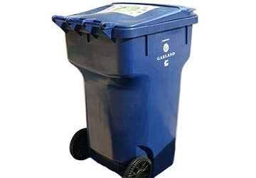 image of blue recycling cart